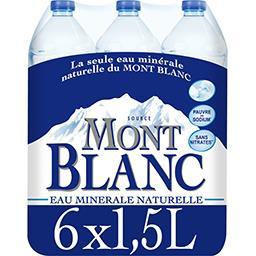 Mont Blanc Mont Blanc Eaux Eau minérale naturelle mont blanc Le pack de 6 bouteilles de 1,5l - 9l