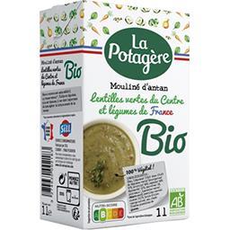 La Potagère La Potagère Mouliné d'antan lentilles vertes et légumes BIO la brique de 1 l
