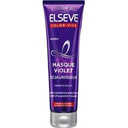 Elsève - Masque violet déjaunisseur cheveux méchés blonds ou blancs Color-Vive