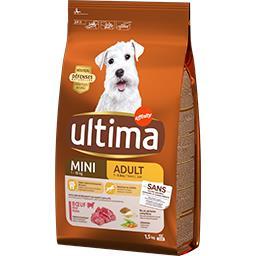 Ultima Ultima Croquettes au bœuf pour chien mini 1-10 kg le paquet de 1,5 kg