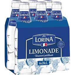 Lorina Lorina Limonade finement pétillante les 6 bouteilles de 20cl - 1,2l