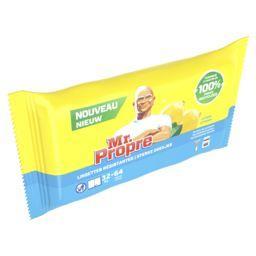 Mr. Propre Mr Propre Lingettes de nettoyage, citron Le paquet de 64 lingettes