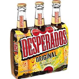 Desperados Desperados Bière aromatisée à la tequila les 3 bouteilles de 33cl - 99cl