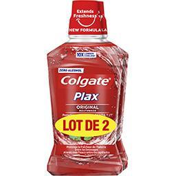 Colgate Colgate Plax - Bain de bouche Original le lot de 2 flacons de 500 ml