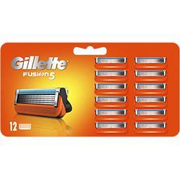 Gillette Gillette Recharges de lames de rasoir pour homme Fusion5 La paquet de 12 lames