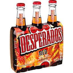 Desperados Desperados Red - Bière aromatisée Tequila cachaça guarana les 3 bouteilles de 33cl