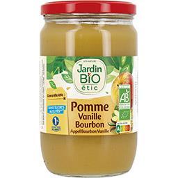 Jardin Bio Jardin bio étic - Purée de pomme vanille Bourbon BIO le bocal de 680 g