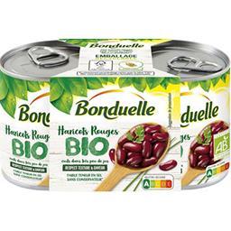 Bonduelle Bonduelle Haricots rouges Bio cuits dans très peu de jus les 2 conserves de 160g - 320g