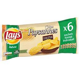 Lay's Lay's Chips paysannes nature les 6 sachets de 27,5 g
