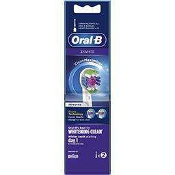 Oral B Oral-B Brossette 3d white  avec technologie cleanmaximiser Le paquet de 2 brossettes