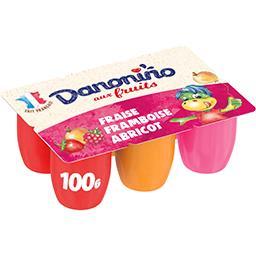 Danone Danonino Fromage blanc aux fruits les 6 pots de 100 g