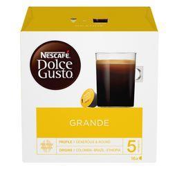 Nescafé Nescafé Dolce Gusto - Caspsules de café moulu Grande 5 les 16 capsules de 8 g