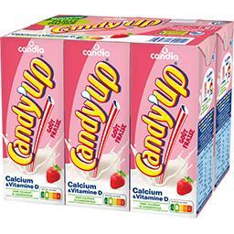 Candia Candia Candy'Up - Boisson lactée goût fraise les 6 briques de 20 cl
