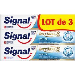 Signal Signal Integral 8 - dentifrice white blancheur le lot de 3 tubes de 75ml