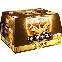 Grimbergen Grimbergen Bière blonde les 20 bouteilles de 25 cl