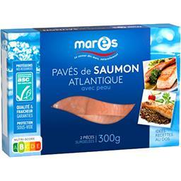 Marès Marès Pavés de saumon Atlantique avec peau la boite de 2 pièces - 300 g