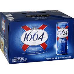 1664 1664 Bière blonde le pack de 12x33cl