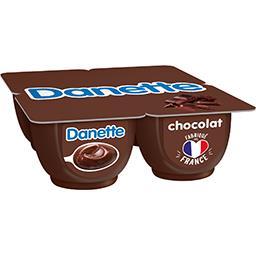 Danone Danone Danette - Crème dessert chocolat les 4 pots de 125 g