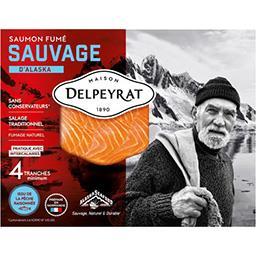 Delpeyrat Delpeyrat Saumon fumé sauvage d'Alaska le paquet de 120 g