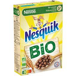 Nestlé Nestlé Nesquik Céréales petit déjeuner BIO au chocolat la boite de 375g