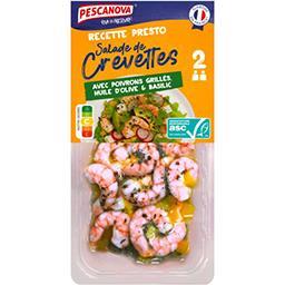 Pescanova Pescanova Salade crevettes poivrons grillés, huile d'olive & basilic la barquette du 200 g