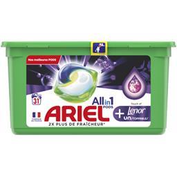 Ariel Ariel Lessive en capsules allin1 pods + fraîcheur de touche de lenor La boite de 31 capsules