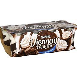 Nestlé Nestlé Le Viennois - Mousse chocolat les 8 pots de 90 g