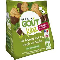 Good Goût Good Goût Kidz - Biscuits Les Animaux Tout BIO nappés de chocolat le sachet de 120 g