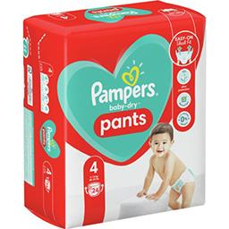 Pampers Pampers Couches-culottes baby-dry pants taille4, 9-15kg Le paquet de 24 couches