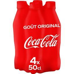 Coca Cola Coca-Cola Soda au cola gout original les 4 bouteilles de 50 cl
