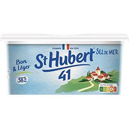 St Hubert St Hubert 41 Margarine sel de mer Bon & Léger 38% MG la barquette de 500 g - Format Spécial