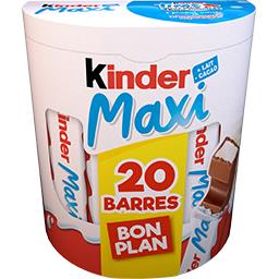 Kinder Kinder Maxi - Barres chocolatées la boite de 20 barres - 420 g - Bon Plan