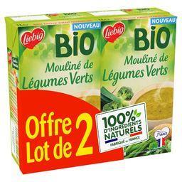 Liebig Liebig Soupe Bio mouliné de légumes verts les 2 briques de 1l - 2l