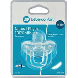 Bébé Confort Bébé Confort Sucettes Natural Physio 100% silicone bleu, 18-36m la sucette