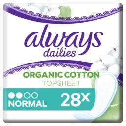Always Always Protège-slips dailies en coton Bio - normal le paquet de 28 protège-slips