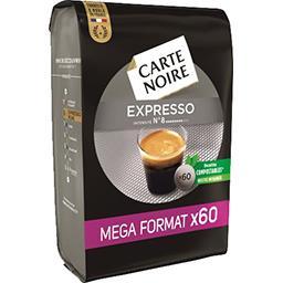 Carte Noire Carte Noire Dosettes de café moulu Expresso le paquet de 60 dosettes - 420 g - Mega Format