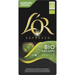 Maison du Café L'Or Espresso Capsules de café moulu intensité 7 BIO la boite de 10 capsules - 52 g