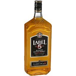 Label 5 Label 5 Blended Scotch Whisky, Classic Black la bouteille de 1 l