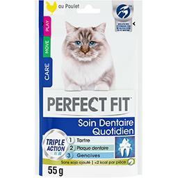 Perfect Fit Perfect fit Soin dentaire quotidien au poulet pour chat adulte le sachet de 55 g