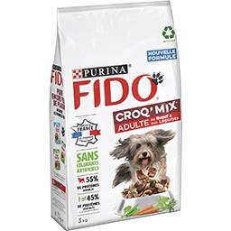 Fido Fido Croq Mix - Croquette bœuf et légumes pour chien adulte le sac de 3 kg