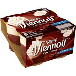 Nestlé Nestlé Le Viennois - Dessert lacté au chocolat L'Original les 4 pots de 100 g