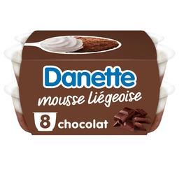 Danone Danone Danette - Mousse liégeoise chocolat les 8 pots de 80 g