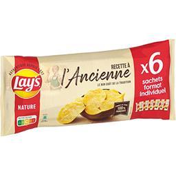 Lay's Lay's Chips à l'ancienne nature les 6 sachets de 27,5 g