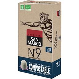 San Marco San Marco Capsules de café moulu Espresso BIO les 10 capsules de 5,1 g