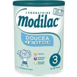 Modilac Modilac Croissance - Lait de suite 3 goût nature, de 10 à 36 mois la boite de 800 g