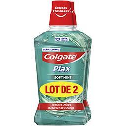 Colgate Colgate Plax - Bain de bouche Soft Mint le lot de 2 flacons de 500 ml