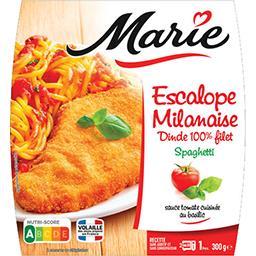 Marie Marie Escalope Milanaise Spaghetti la barquette de 300 g