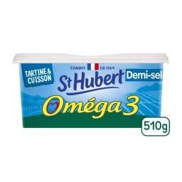 St Hubert St Hubert Matière grasse Oméga 3 demi-sel la barquette de 510 g