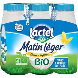 Lactel Lactel Lait Matin Léger BIO les 6 bouteilles de 50 cl