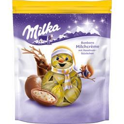 Milka Milka Bonbons de chocolat au lait fourré lait noisette le sachet de 86 g